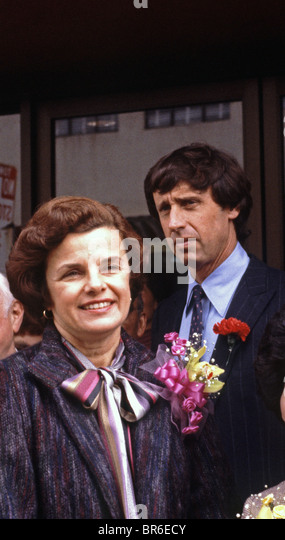 San Francisco, Mayor, Dianne Feinstein and husband Richard Blum, 1982 - Stock Image