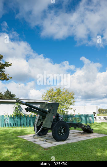 Grey Point Fort is a museum with artifacts from both World War I and World War II - Stock Image