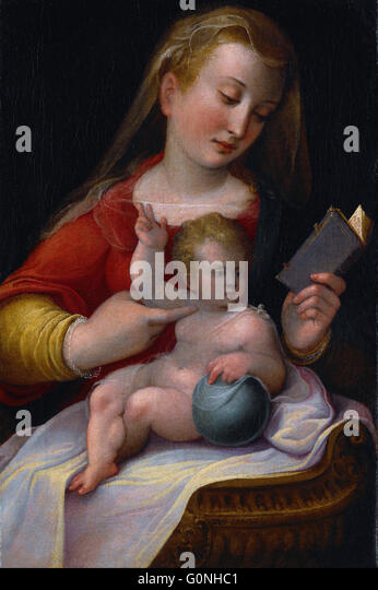 Longhi, Barbara - Madonna and Child - Stock Image