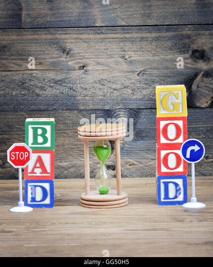 Choice concept Bad or Good - Stock Image