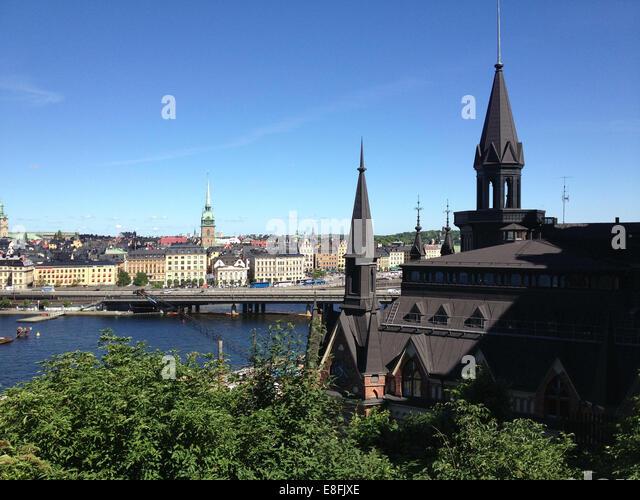 Sweden, Stockholm, Central Stockholm view - Stock Image