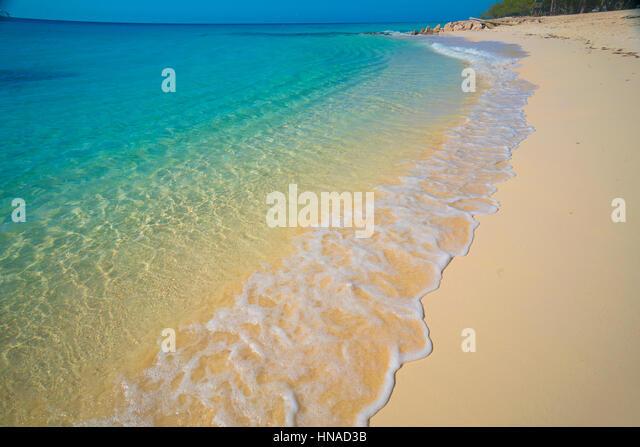 Governor's Beach, Columbus Landfall National Park, Grand Turk Island, Turks and Caicos, Caribbean Sea, Atlantic - Stock-Bilder