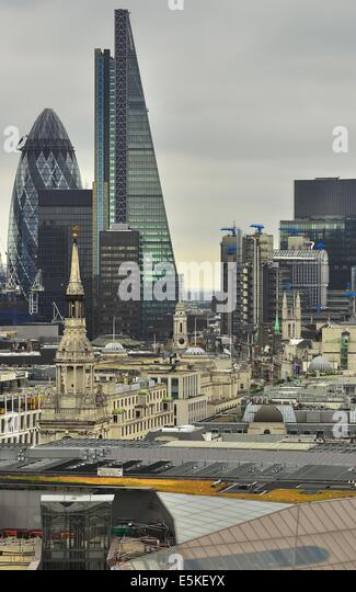 London skyline looking East - Stock Image