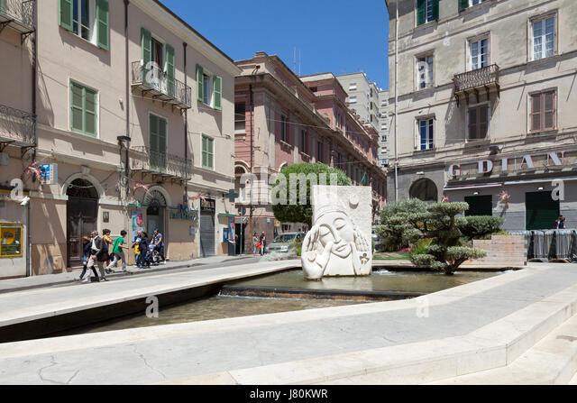 Street scene Sassari, Sardinia - Stock Image