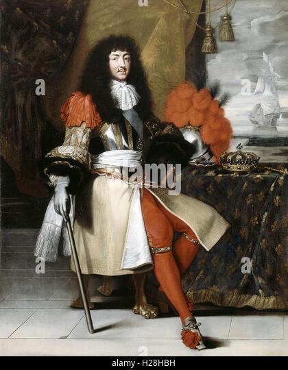 Louis XIV, King of France - Stock Image