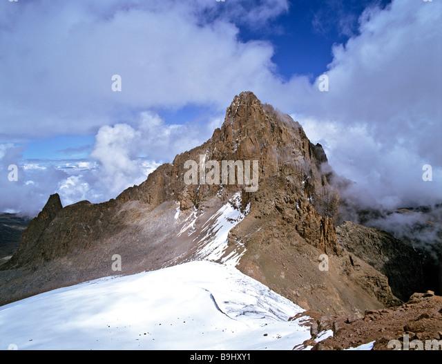 Mount Kenia, 5199 metres, volcano, Kenia, Central Africa - Stock-Bilder