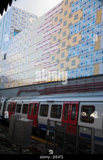 UK, England, London, Kennington Underground Station, The Tube. - Stock Image