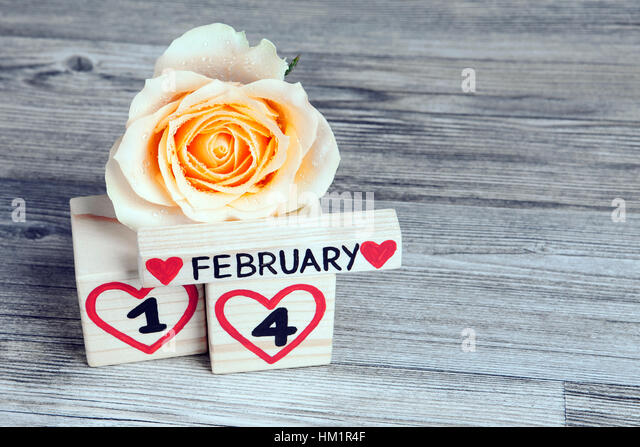 Calendar Rose Day : Calendar red fourteen number stock photos