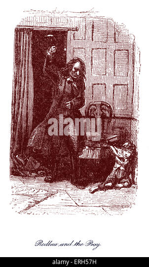 The Haunted Man and the Ghost's Bargain by Charles Dickens, published in 1848. Caption reads: 'Redlaw and - Stock Image