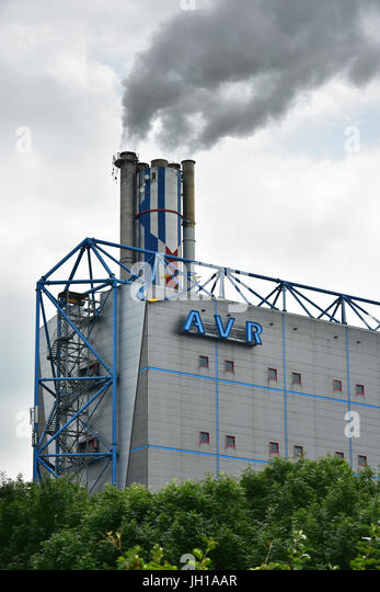 AVR Waste burning factory in The Netherlands - Stock Image