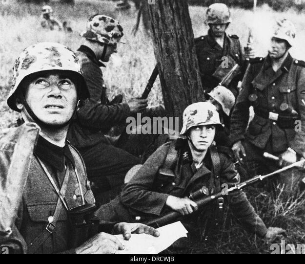 Waffen SS Troopers WWII - Stock-Bilder