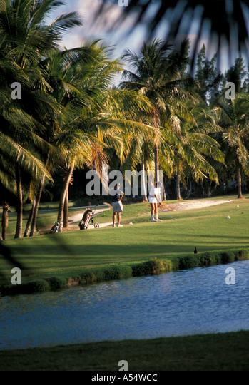 Nassau Bahamas Paradise Island Golf Course - Stock Image