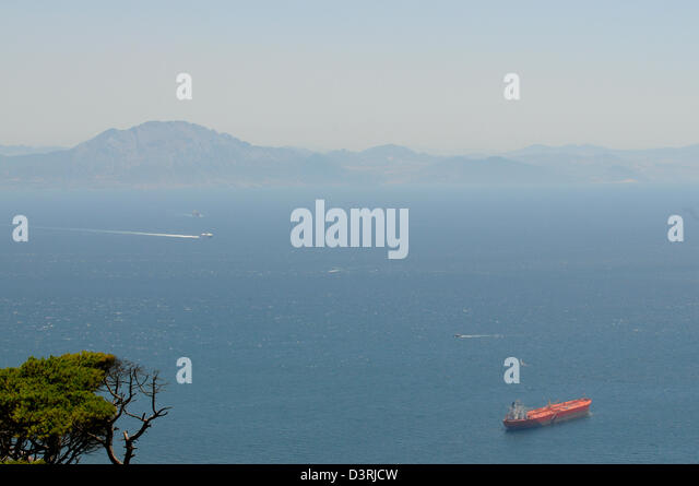 Tangiers morocco stock photos tangiers morocco stock - Moroccan port on the strait of gibraltar ...