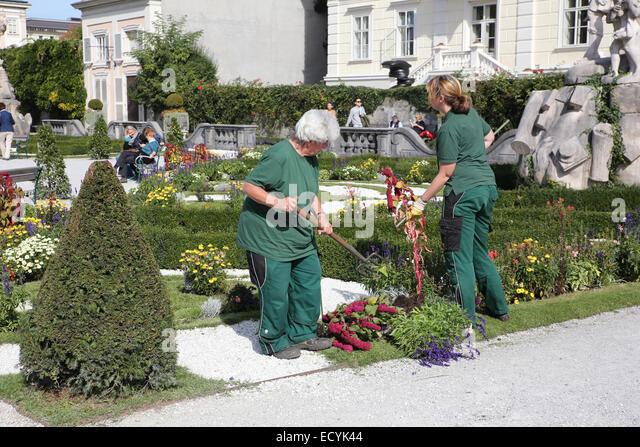 garden workers - Stock-Bilder
