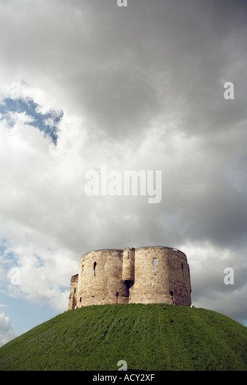Cliffords tower, York - Stock Image