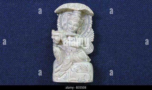 In KRISHNA Avatar, Lord Vishnu incarnates himself as KRISHNA , the central character in the epic MAHABHARATA. - Stock Image