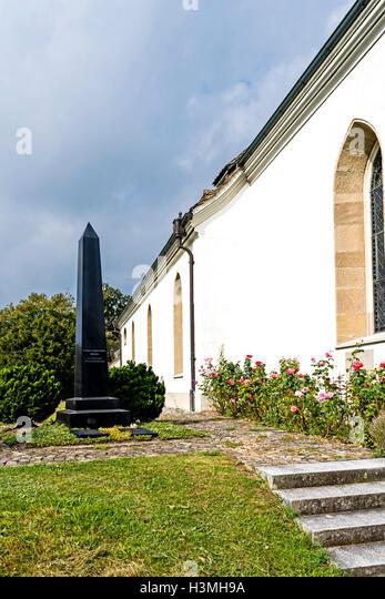 Kilchberg, Zürich, Cemetery with the grave of Conrad Ferdinand Meyer - Stock Image