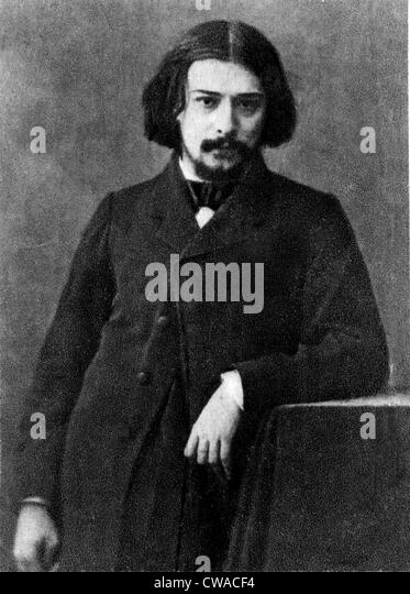 Alphonse Daudet (1840-1897) French novelist and short story writer. 1869. - Stock-Bilder