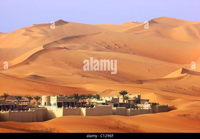 Anantara Qasr Al Sarab, hotel resort,  luxury Desert hotel,  in  Rub Al Khali desert,  Empty Quarter, Abu Dhab - Stock Image