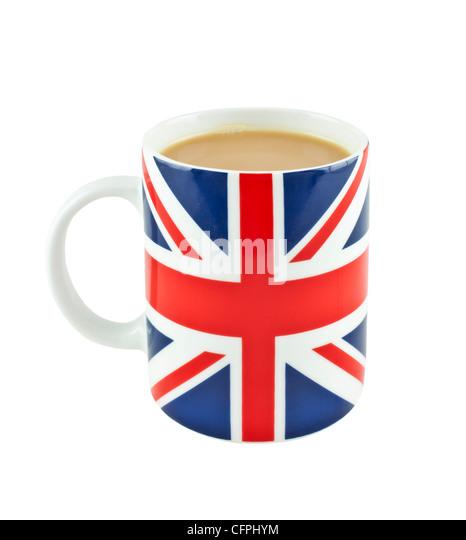 Tea in a  union jack mug - Stock Image