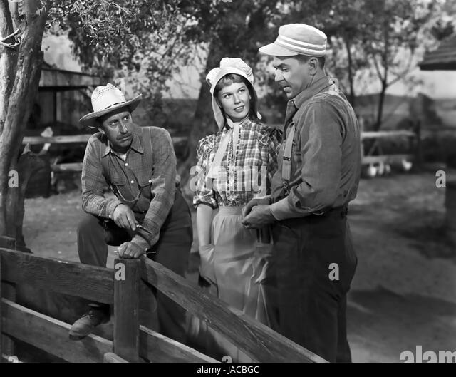 THE WINNING TEAM 1952 Warner Bros film with Ronald Reagan at right as baseball hero Grover Alexander with  Doris - Stock Image
