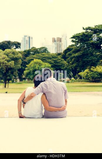 Senior Couple Leisure Outside Concept - Stock Image