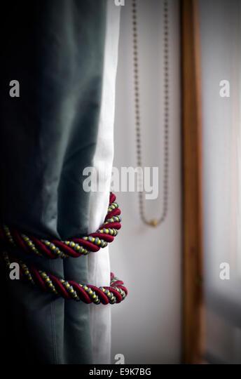curtain ties - Stock Image