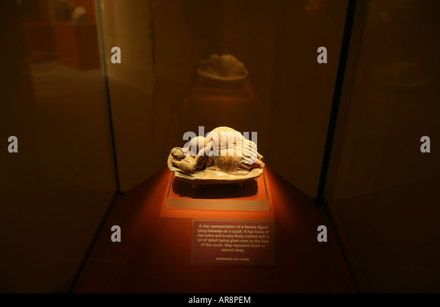 The Sleeping Lady In the museum of Archaeology Valletta Malta - Stock Image