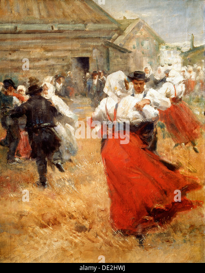 'Country Celebration', late 19th or early 20th century. Artist: Anders Leonard Zorn - Stock Image