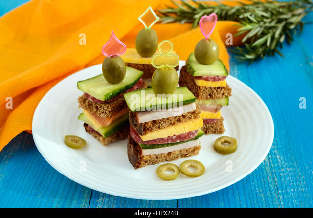 Mini sandwich canape stock photos mini sandwich canape for Canape sandwich