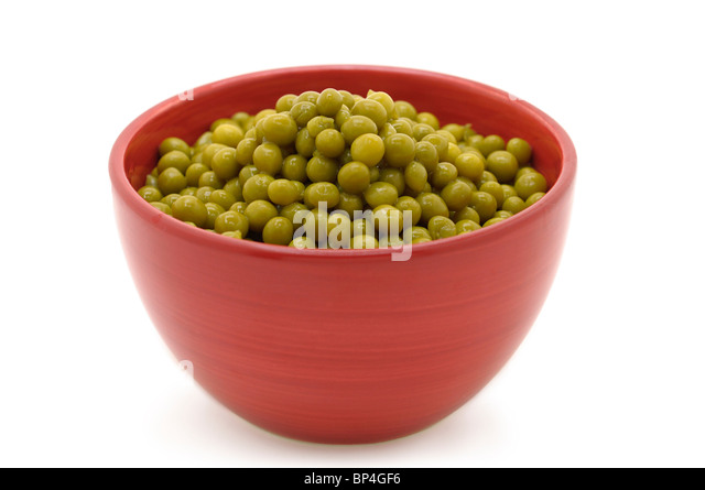 Green Peas - from a Tin - Stock Image