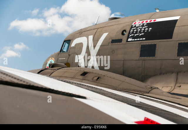 C-47 Dakota troop carrying aeroplane from World War 2 - Stock Image