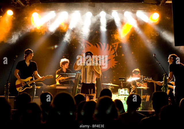 The German band Timid Tiger live in the Schueuer concert hall, Lucerne, Switzerland - Stock Image