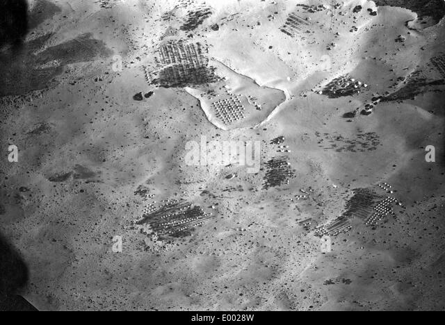 Aerial photograph of an English camp, 1917 - Stock Image