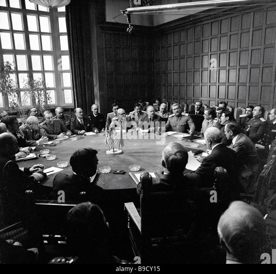 Potsdam Conference Fragment of Yevgeny Matveyev s film Victory - Stock Image