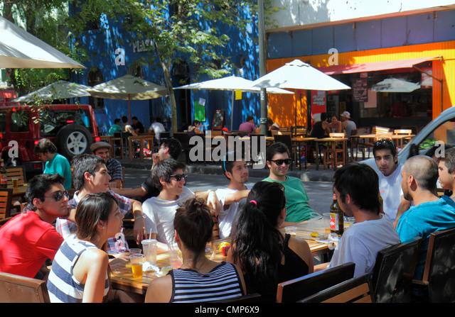 Chile Santiago Bellavista Pio Nono Hispanic - Stock Image