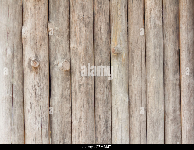 Wood wall background of Thai rural house - Stock-Bilder