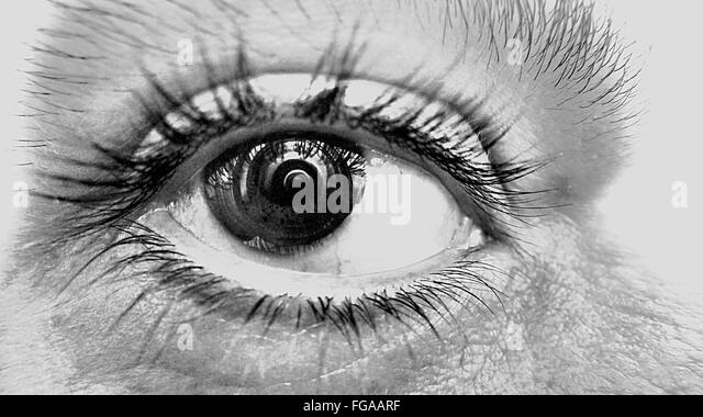 Extreme Close-Up Of Person Eye - Stock Image