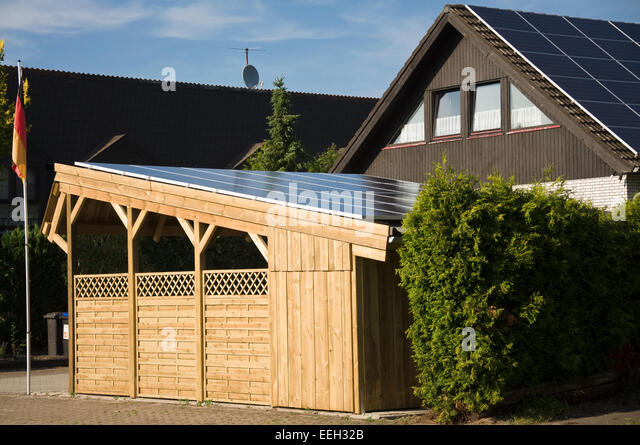 Off Grid Solar Carport : Solar shelter stock photos images