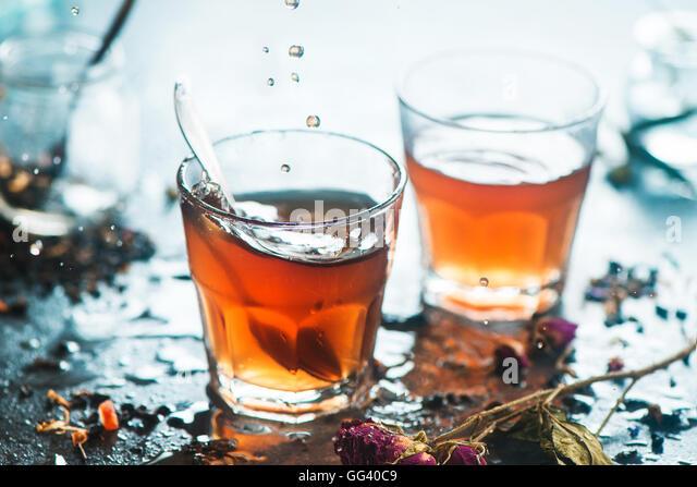 Morning tea with sunshine - Stock Image