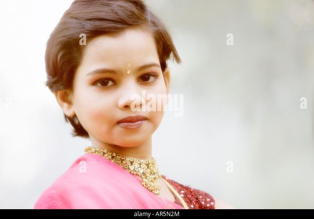 Young Indian girl, Bombay, India - Stock-Bilder