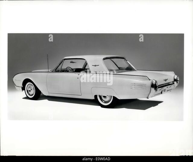 Oct. 14, 1960 - The third expression of the classic Thunderbird concept reveals itself in this view of the 1961 - Stock Image