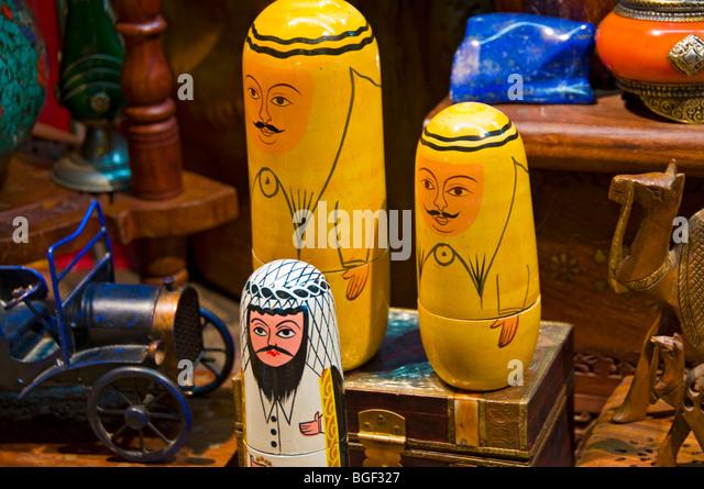 Handicrafts Muscat Souk Oman - Stock Image
