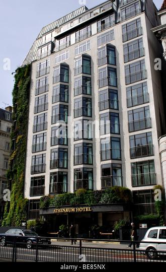 athenaeum hotel london stock photos athenaeum hotel. Black Bedroom Furniture Sets. Home Design Ideas