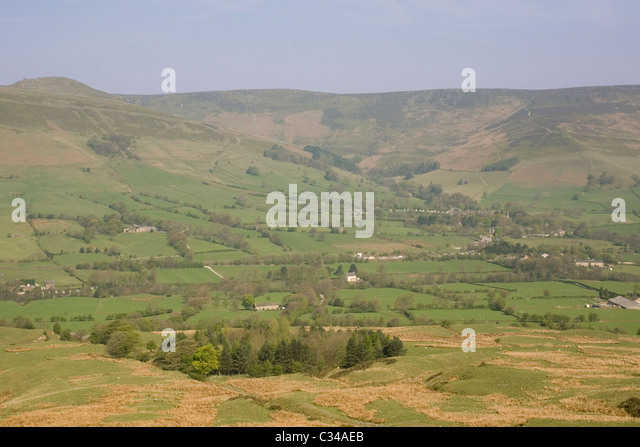 England Derbyshire Peak district Edale valley - Stock Image