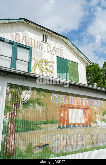 Louisiana, Houma, Jolly Inn, Cajun Cafe, bar, restaurant, Cajun music venue - Stock Image