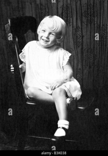 MARILYN MONROE as a child - Stock Image
