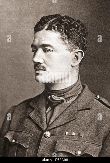 The Honourable Julian Henry Francis Grenfell DSO, 1888 –1915.  British soldier and poet of World War I. - Stock Image