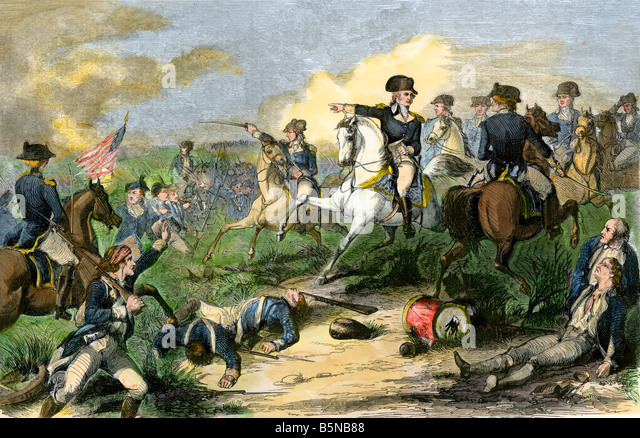 General Washington reproving General Charles Lee at the Battle of Monmouth 1778 - Stock Image