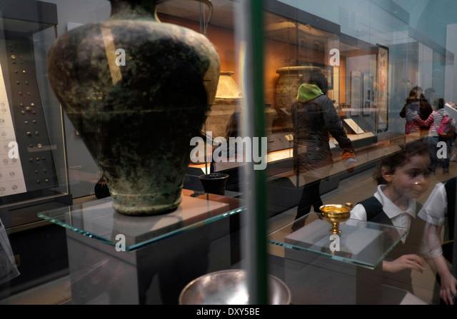 British Museum exhibition antiquity - Stock Image